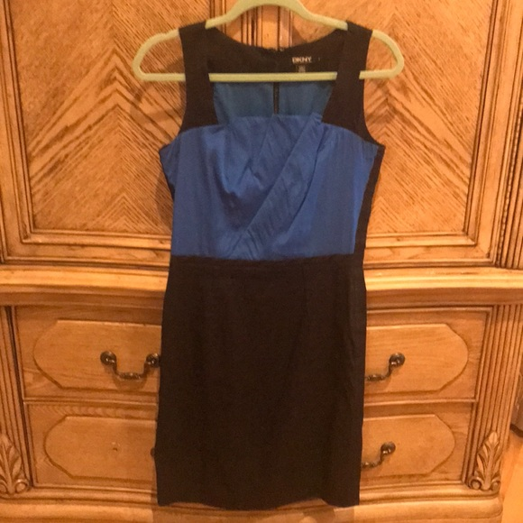 Dkny Dresses & Skirts - DKNY black and blue dress